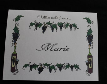 grapevines and wine bottles Personalized