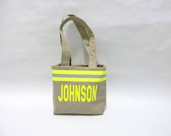 Firefighter Name Small Purse Tan