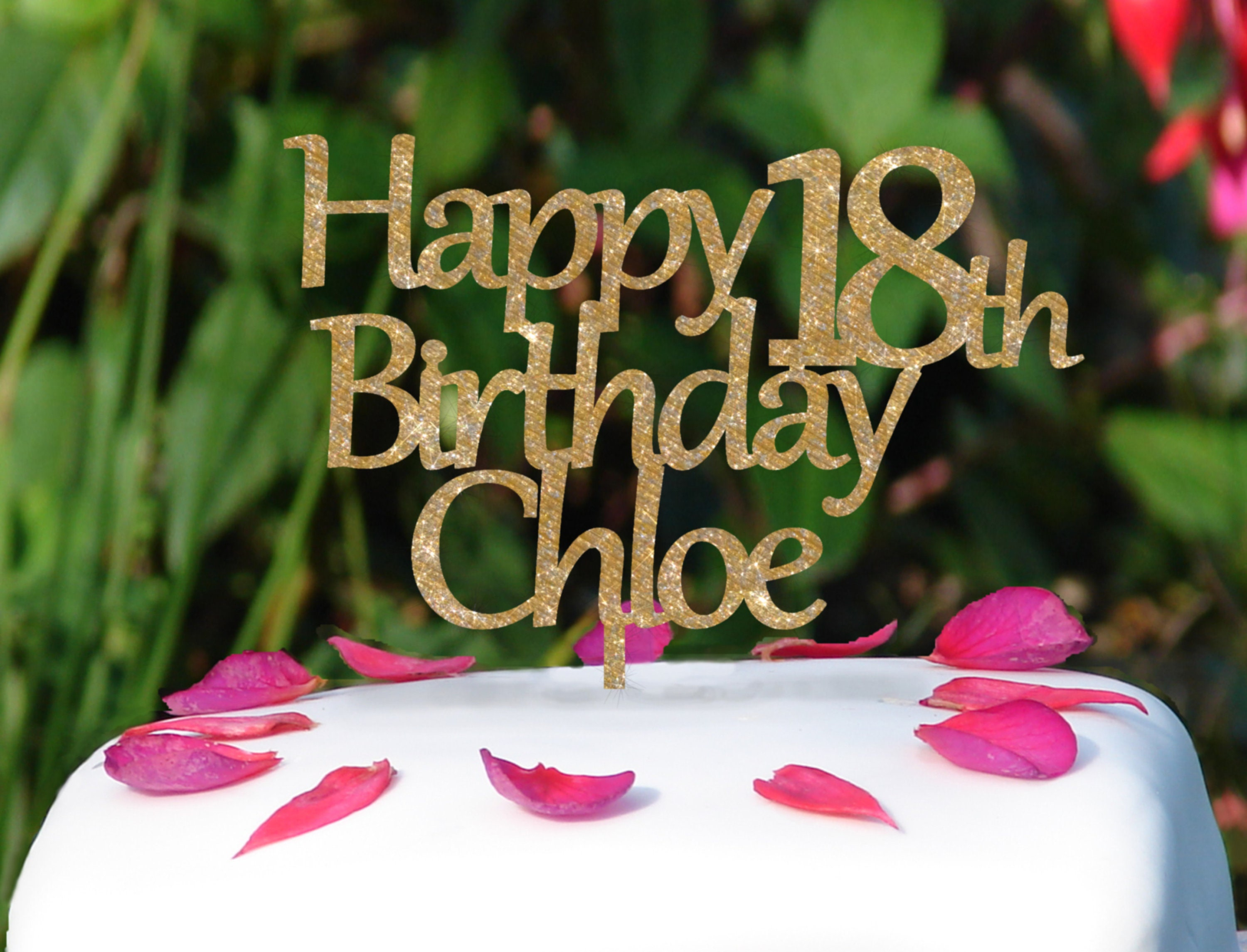 Happy Birthday Personalised Cake Topper Personalised Cake Topper