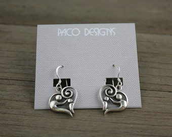 Mother and Child Sterling Silver Earrings