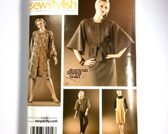Simplicity 3631, Women's Coat, Jacket, Dress, Jumper, Pants, Skirt Pattern, Plus Size Pattern, Size 14, 16, 18, 20, 22, Uncut Pattern