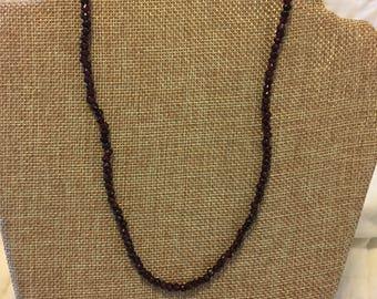 Beautiful strand garnet beads
