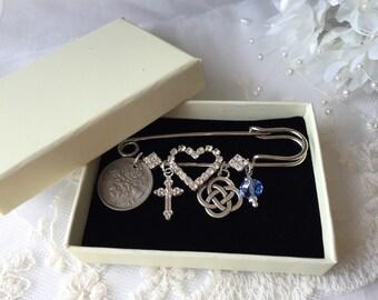 Love Knot Bridal Pin TraditionalKnot Bridal Pin Welsh Wedding Safety Pin
