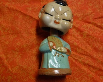 Vintage Japanese Bobble head doll Collectible  Home Decor Bobble heads