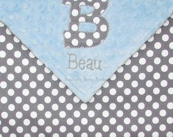 Baby Blanket, Personalized Baby Blanket, Gender Neutral Baby Blanket, Newborn Gift, Baby Shower Gift, Minky Blanket, Embroidery Optional