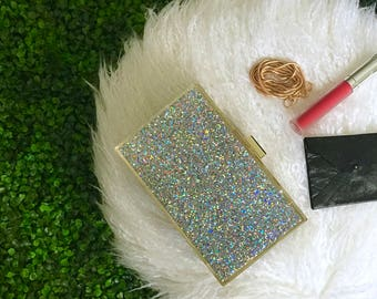 Glitter Clutch | Boxy Clutch with Bling Bling Glitter