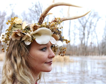 Antler Design Series, Antler Headband inspired by Hannibal, to pair with Flower Crowns