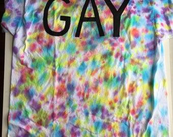 Gay Pride Tie Dye T-shirt