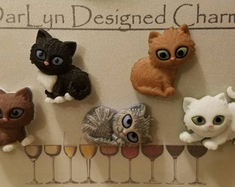 Magnetic wine charms! Kitties!!!