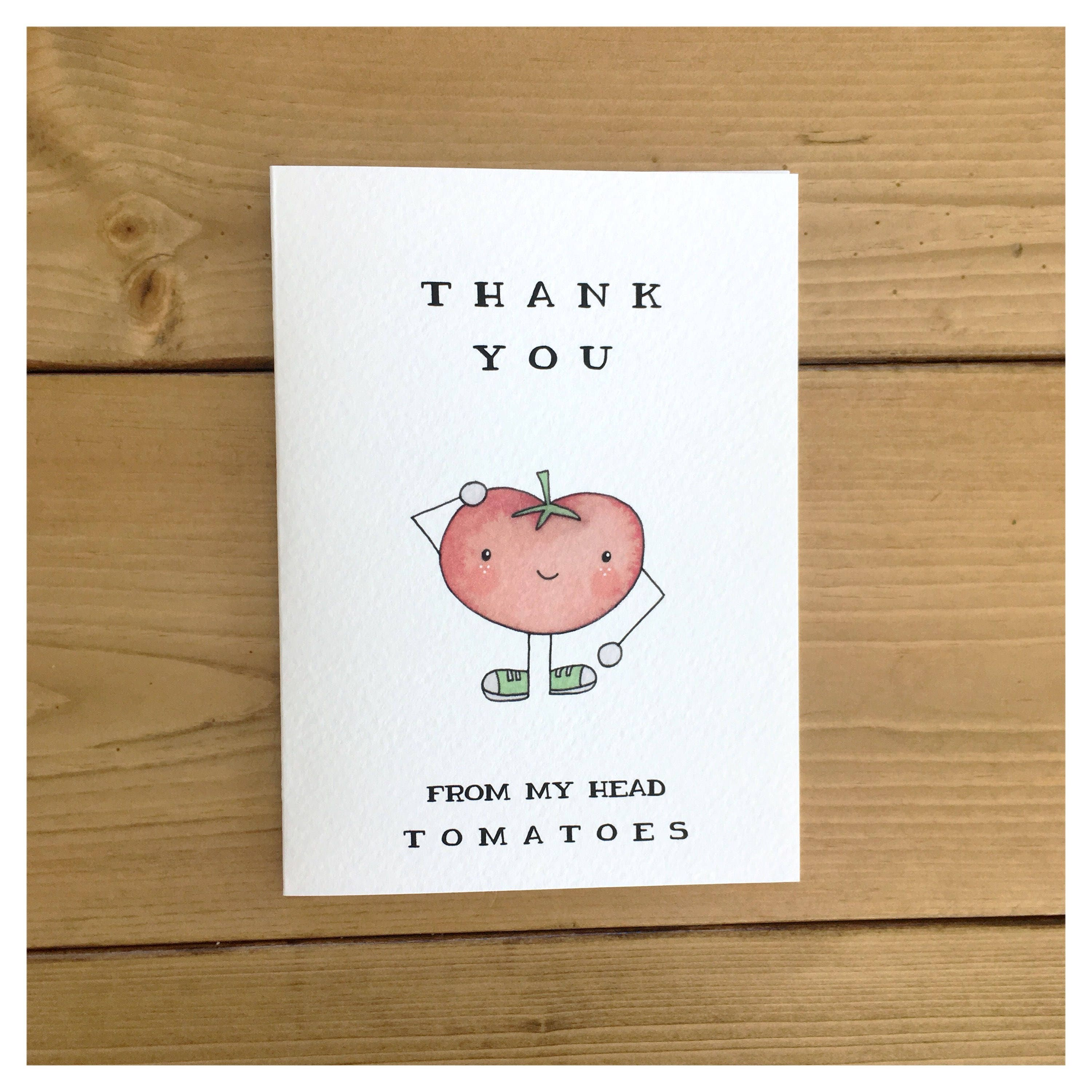 Vegetable card tomatoe card vegetable decor vegetable pun vegetable card tomatoe card vegetable decor vegetable pun pun punny thank you card greeting card thank you gift funny card vegan kristyandbryce Image collections