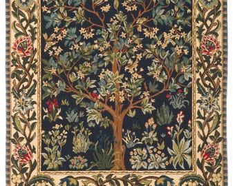 tapestry wall hanging Tree of Life - Tree of Life wall hanging tapestry - William Morris wall tapestry - William Morris Decor - WT-1085