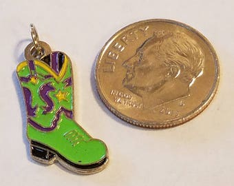 Cowboy boot charm, Cowgirl Boot Charm, Cowgirl Boot, Cowboy Boot, Charms