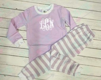 Baby Toddler Kids spring Easter custom monogram pajamas personalized 6m - size 8