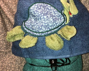 Turtle  hooded towel