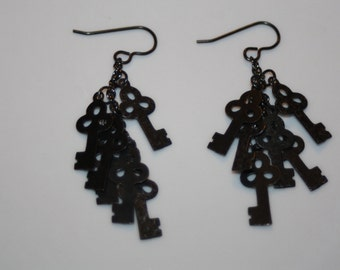 Skeleton Keys Earrings