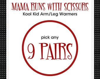 """Boy or Girl Leg Warmers - Great Gift for Baby, Infant, Toddler, Kid and Tween - Choose any 9 pair of the 14"""" length - Arm Warmers/Leggings"""