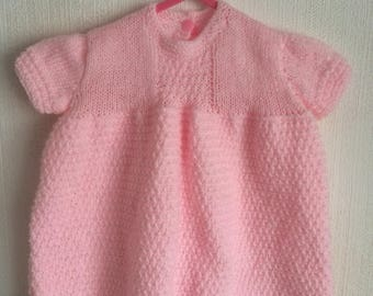 Emily Baby Dress Spring Summer Time Knitting Pattern - PDF ONLY