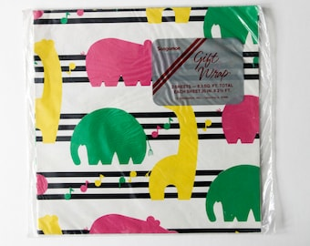 Wrapping Paper | Animals | Exotic | Zoo | Baby Shower | Gift | Gift Wrap