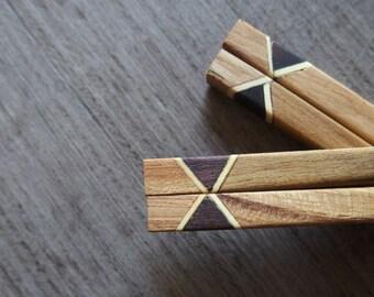 TeaK Wooden Chopstick Unique Design A+++ Quality Handmade Eco Friendly