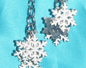 Set of Two ~ Snowflake Winter Snow Intricate Metal ~ Ceiling Fan Pulls