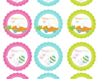 Happy easter kids easter gift tags printable diy file happy easter kids cute easter gift tags printable diy file negle Choice Image