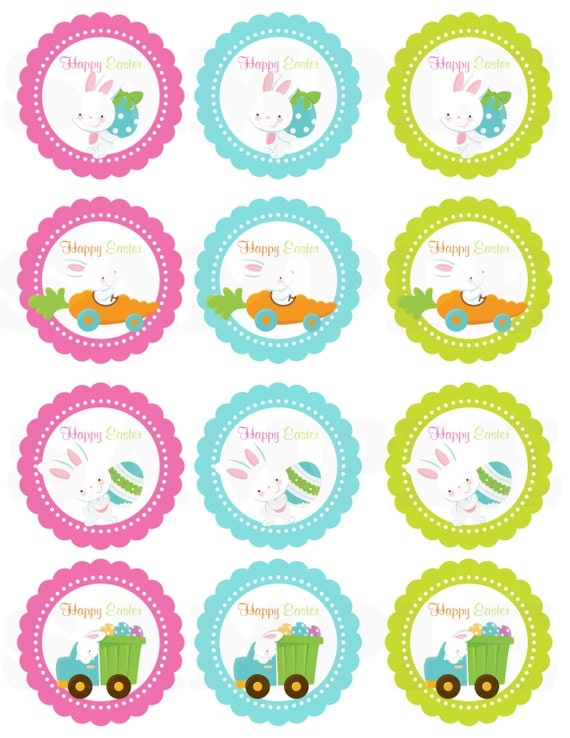 Happy easter kids cute easter gift tags printable diy file happy easter kids cute easter gift tags printable diy file negle Image collections