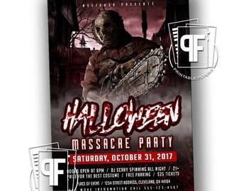 Printable Halloween Invitation - Halloween Party Flyer - Halloween Party Invitation - Horror Night Invitation - Halloween Night Invitation