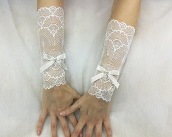 Bridal gloves, fingerless gloves, wedding gloves, arm warmers, lace gloves, ivory gloves, wedding cuffs, lace cuffs