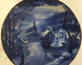 Religious/ Christmas/ Peaceful Village Plate