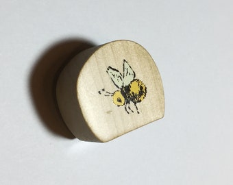 Kodomo no kao stamp bumble bee // Rubberstamp from Japan // Japanese stationery design