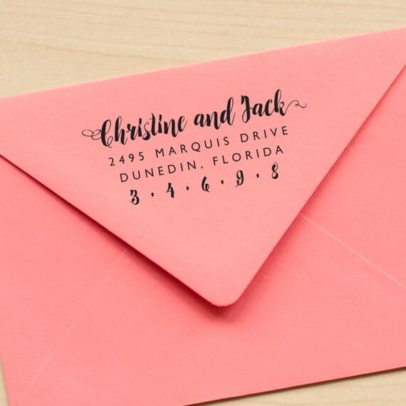 Custom address stamp, address stamp, personalized address stamp, calligraphy address stamp, eco friendly address stamp, personalized gift