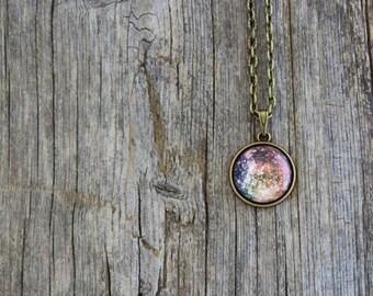 Callisto, Callisto Necklace, Callisto Pendant, Solar System, Jupiter, Planet Necklace, Space Jewelry, Universe Jewelry, Galaxy, Science
