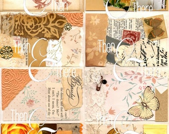 Summer Time- a mini collage art zine, journal cards