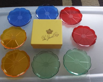 1960's Vintage Retro flower coasters by The Jewel Box