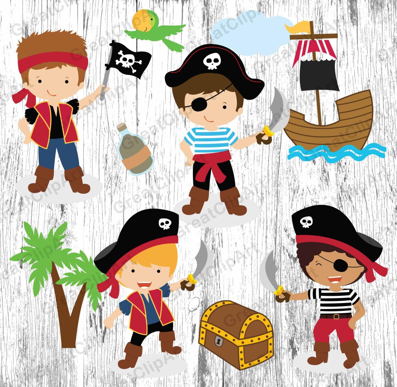 Clipart de dibujos animados los ni os piratas 10 gr fico de - Piratas infantiles imagenes ...
