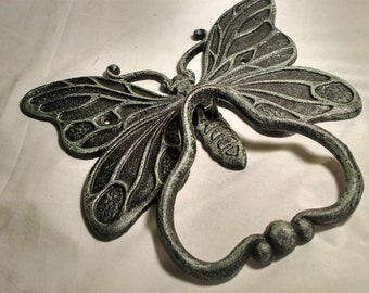 cast iron butterfly door knocker French Country,cottage chic,boho,farmhouse