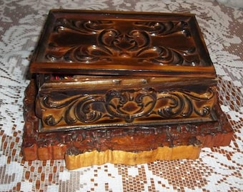 Beautiful one of a kind custom made wooden box