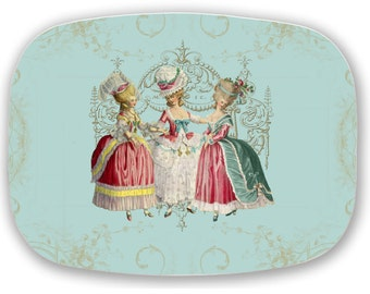 Marie Antoinette Platter Girls Ladies in Waiting French style Serving Platter Tray Gift 100% Made in USA