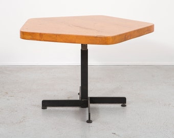 Les Arcs Adjustable Pentagonal Table by Charlotte Perriand