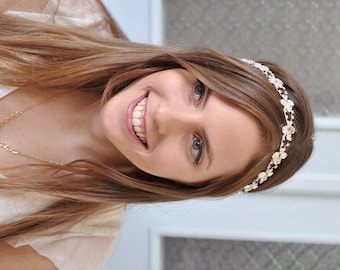 Bridal Crystal Headband , wedding Swarovski Headpiece