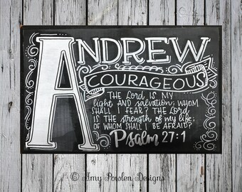 Hand-painted name meaning sign/Scripture/Child's personalized name sign