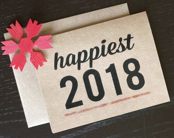 Set of 20 - Happiest 2018 Happy New Year Cards - New Years Cards