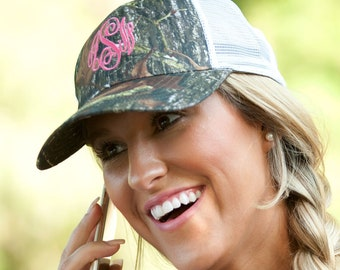 Monogram Camo Woods Trucker Cap for Women