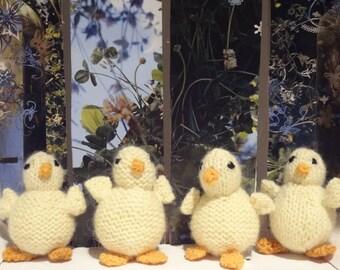 CHICKS Toy Hand Knit Plush Animal