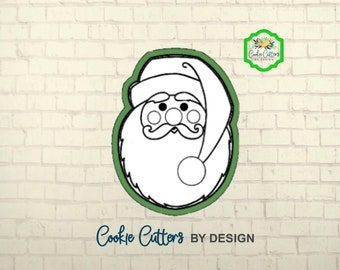 Santa Face Cookie Cutter / #3 / 3D Cookie Cutter / Christmas Cookie Cutters