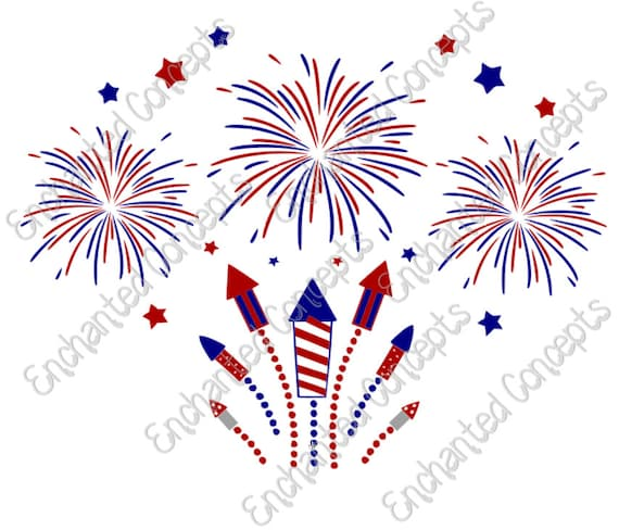 Fireworks SVG Patriotic 4th Of July Cutting Files Eps Svg