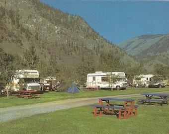 Vintage 1980s Postcard Keremeos British Columbia BC Canada Lucky R Campsite Southern Interior Advertising Photochrome Postally Unused