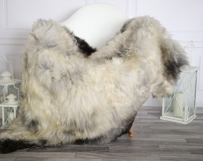 Sheepskin Rug | Real Sheepskin Rug | Shaggy Rug | Sheepskin Throw | Super Large Sheepskin Rug Gray Brown| Home Decor | #HERMAJ77