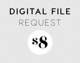 Digital File Request - Convert An Art Print To Digital Download