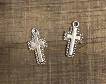 2 Silver Cross Pendants